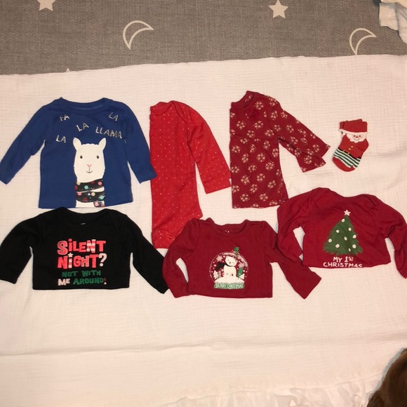 CARTERS INFANT BOYS GIRLS 3-6M NWT SANTA OUTFIT RED CHRISTMAS HOLIDAY NEW 3M 6M